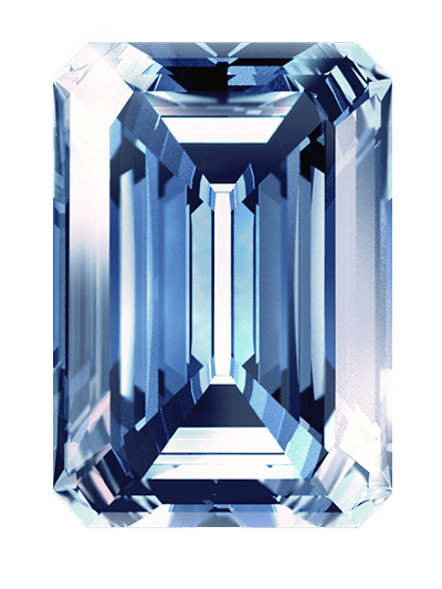blau colour diamant aus asche